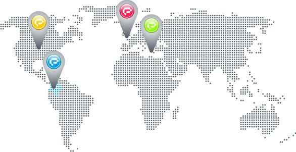 Mapa de contacto de exusmultimeida en colombia, estados unidos, reino unido e italia. Exusmultimedia  (Diseño Páginas Web y Sitios Web Administrables)